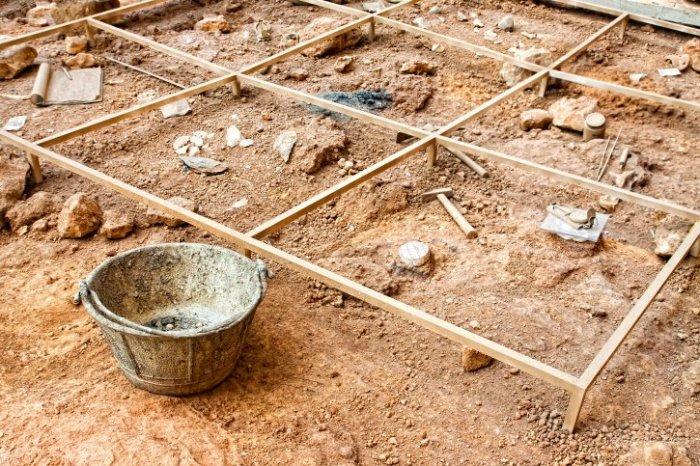 На раскопках в Египте.