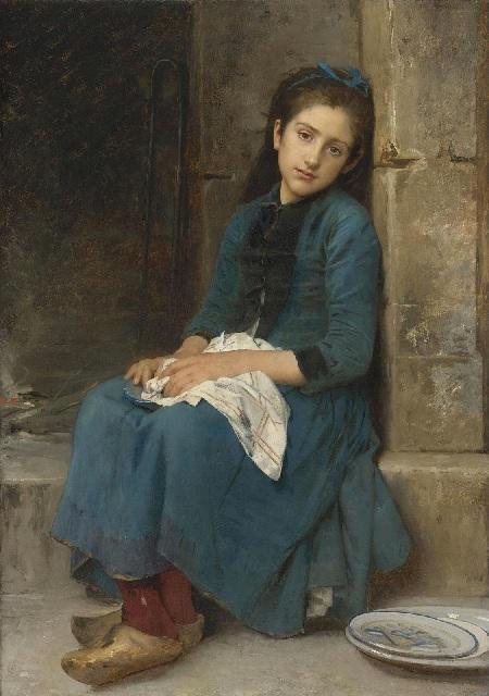 Задумчивая девушка (Невинность) (Pensive Girl (Innocence)).(1904). Автор: Leon Bazile Perrault.